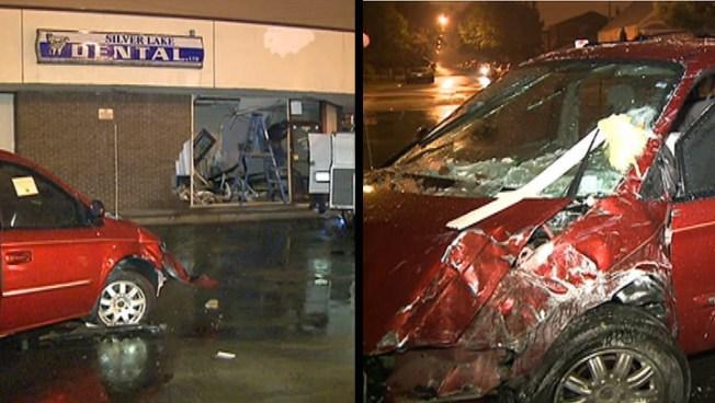 Driver Crashes Minivan Into Dental Office