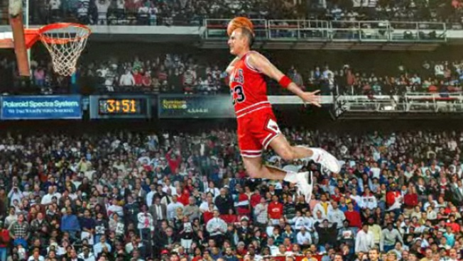 "Matt ""Air"" Lauer Recreates Famous MJ Photo"