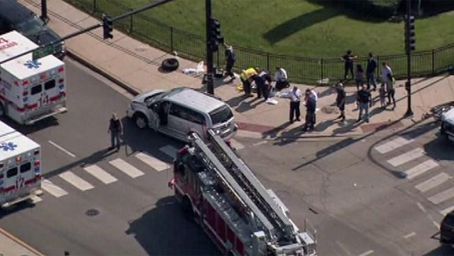 13 Injured in South Side Crash