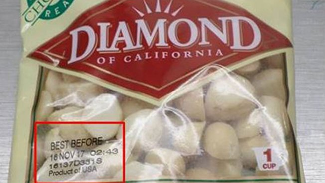 Diamond of California Recalls Macadamia Nuts for Salmonella
