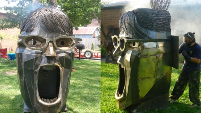 Sarah Palin Sculpture Finds Bridgeport Home