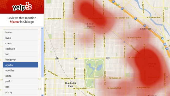 Heat Map Helps You Find, Or Avoid Hipsters