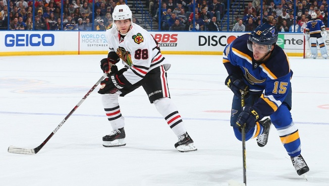 Blackhawks Blow Late Lead, Lose Shootout to Blues