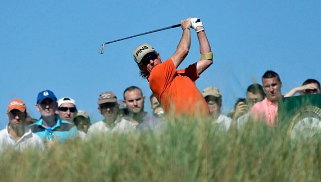 Jimenez Finds Fun in Tough Day at British Open