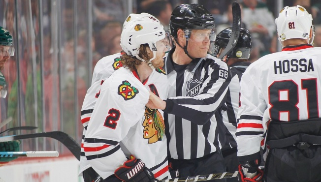 Duncan Keith Ejected From Game vs. Wild After Vicious Slash
