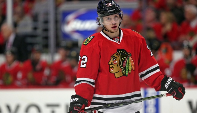 Panarin Scores Twice as Blackhawks Blast Red Wings