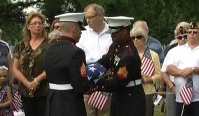 WWII Hero's Gravesite Rededicated