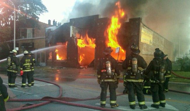 2-Alarm Fire Guts Auto Shop