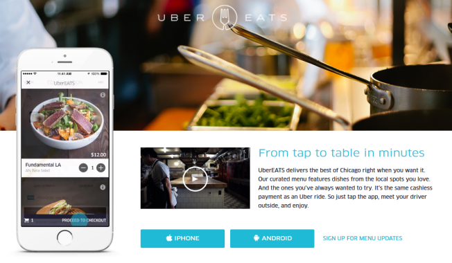 Uber Launches UberEATS Food Delivery Service in Chicago