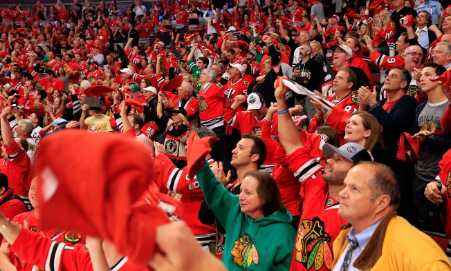 Suit: Man Injured by Drunken, Falling Fan at 2015 Blackhawks Game