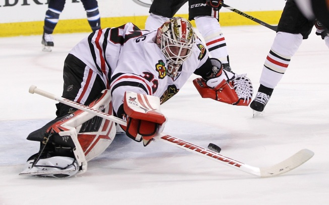Darling Gets Shutout, Blackhawks Top Jets, Snap 4-Game Slide