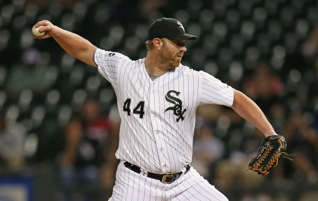 Adam Dunn Pitches for Sox in Blowout Loss