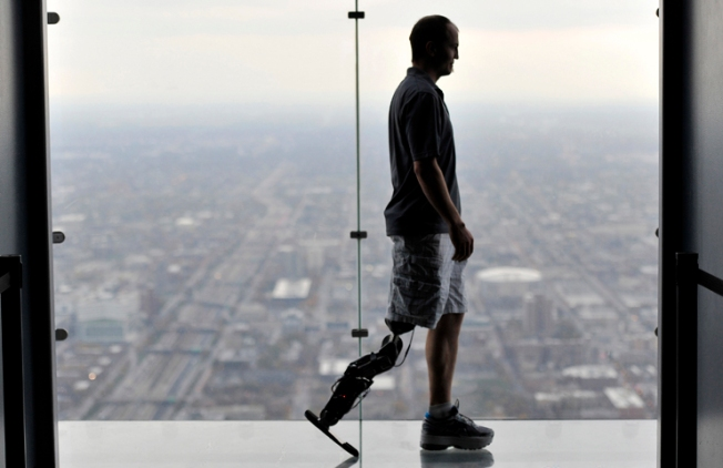 Man Climbs Willis Tower with Bionic Leg