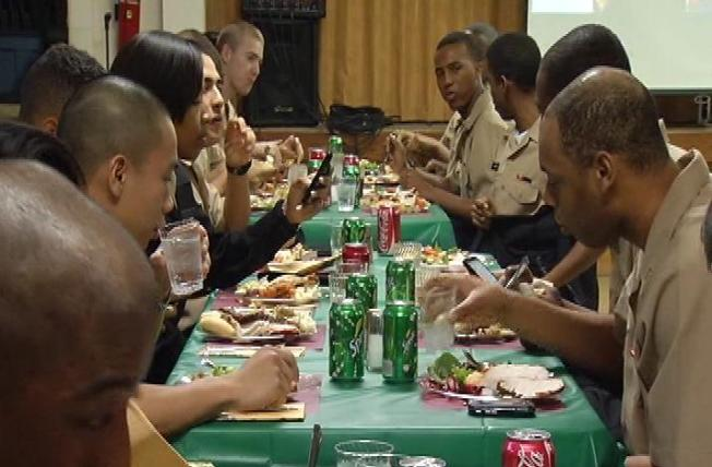 Recruits Enjoy Thanksgiving Away From Home