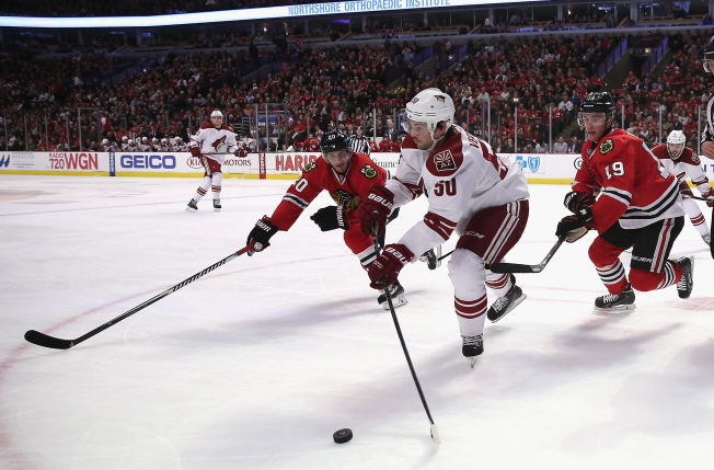 Video: Blackhawks Come Within Centimeters of Winning Monday