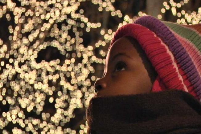 Families Pack Mag Mile for Lights Festival