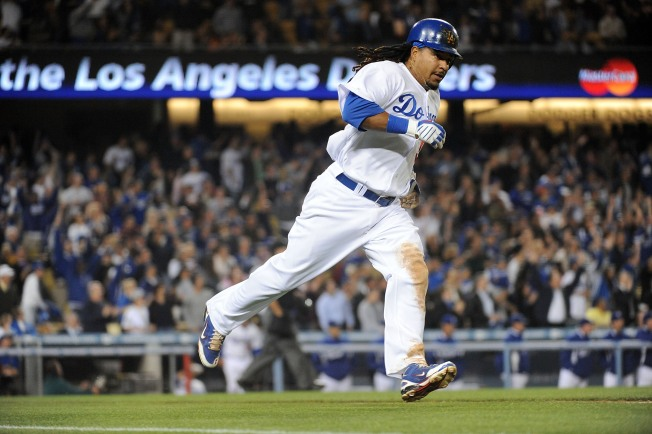 Manny a Hit in Minors Before He Steps to Plate