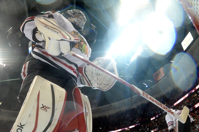 Crawford's Mask Artist Has Work on Display in Cup Final