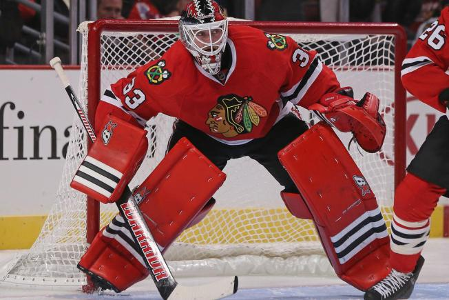 Blackhawks' Darling Gets First NHL Win Over Senators