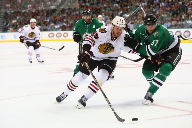 Blackhawks Snag 3-2 Shootout Win Over Stars in Opener