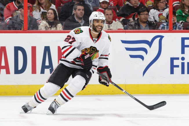 Johnny Oduya Injured in Loss to Bruins Sunday