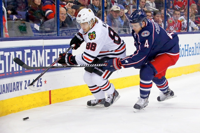 Johnson Shootout Goal Sinks Blackhawks in Columbus