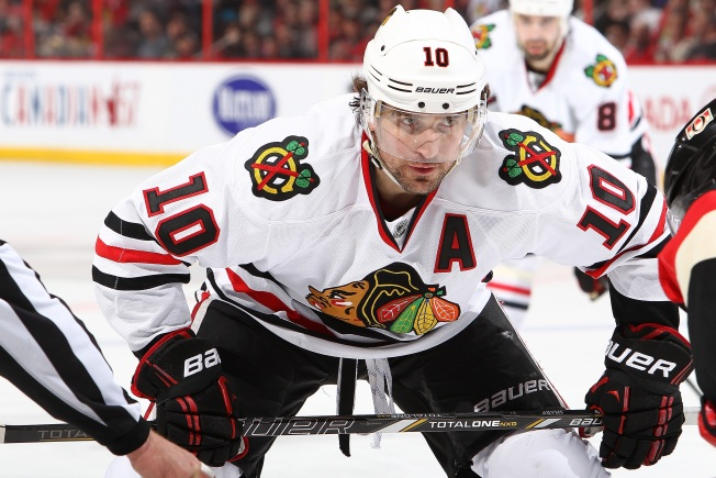 Who Should Replace Patrick Sharp in Hawks' Lineup?