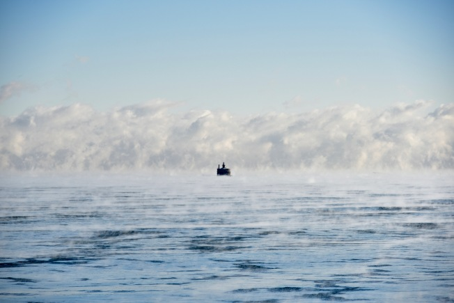 Gorgeous Photos of Steam Fog Over Lake Michigan