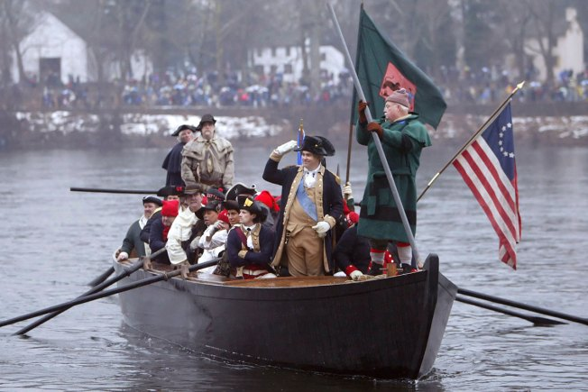 Low levels in Delaware River Could Keep Washington Crossing Re-Enactors on Land