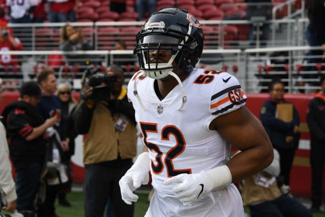 071ee011 Khalil Mack Ranks as One of NFL's Top-Selling Jerseys - NBC Chicago