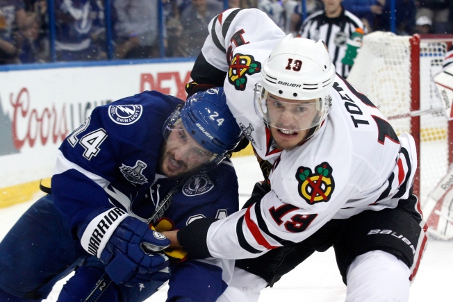 Toews, Sharp Confident in Hawks' Chances Despite 2-1 Deficit