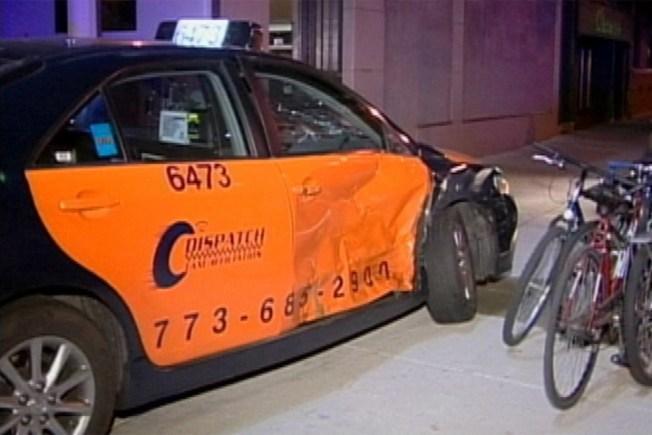 Crash Sends Taxi Careening into Pedestrians