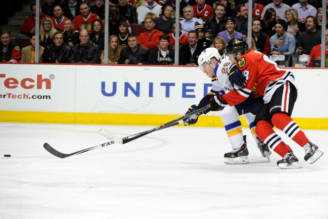 Kane Scores Twice as Blackhawks Blow Out Blues