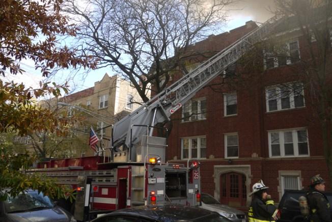 Firefighters Battle Extra-Alarm Blaze in Rogers Park