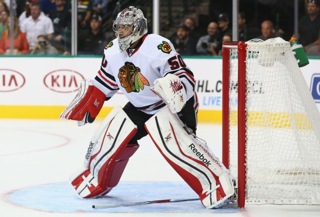 Crawford Day-to-Day With Injury, Raanta to Start vs. Flyers