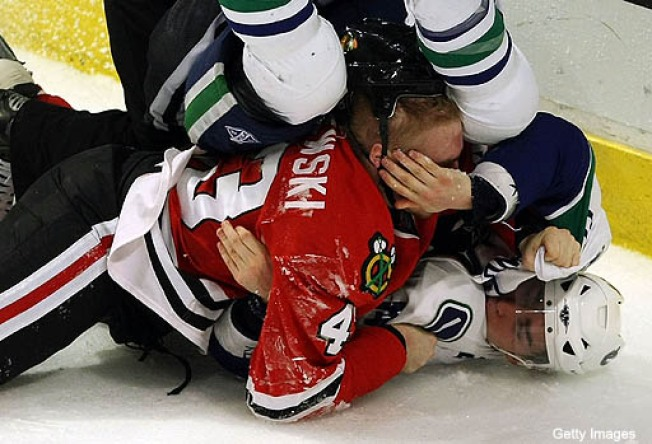Hawks Enforcer Burish Out For Season