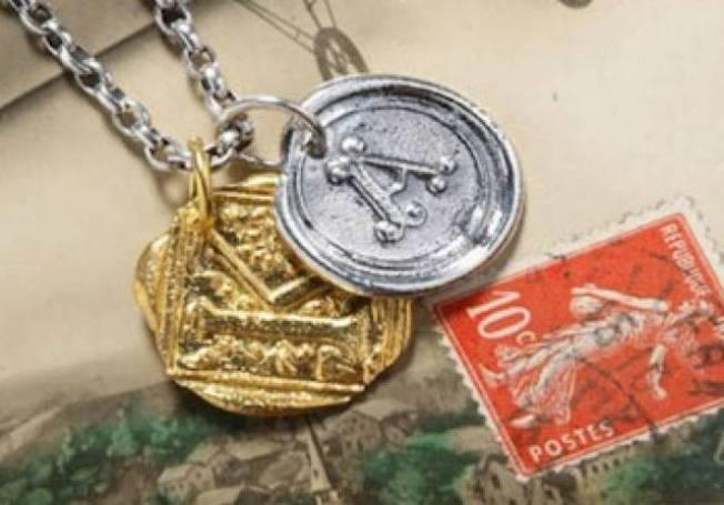 Antique Wax Stamp Charm