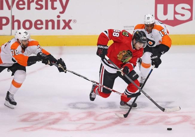 Three Stars: Kane, Raanta Lead Hawks to Victory