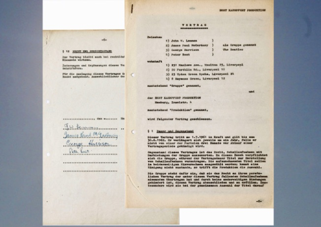 Beatles' 1st Contract Fetches More than $90,000 at Auction