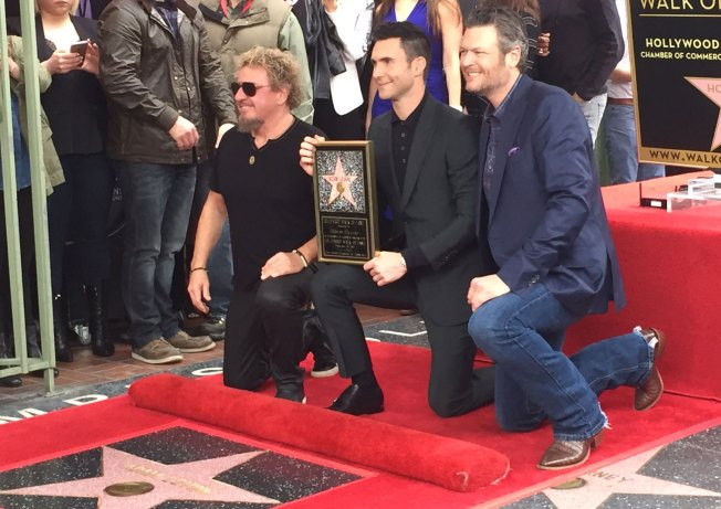 Adam Levine Receives Star on Hollywood Walk of Fame