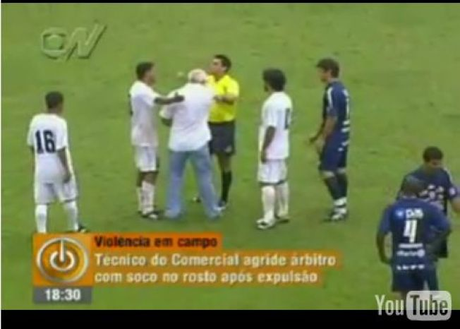 Brazilian Soccer Coach Punches Ref In The Face - NBC Chicago