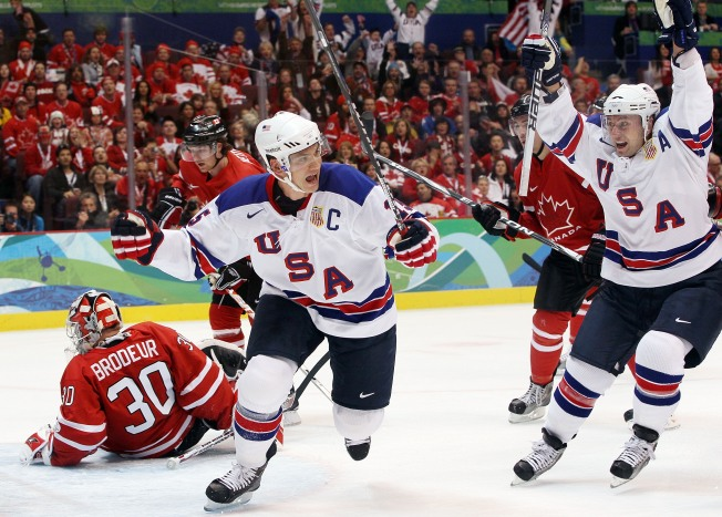 U.S. Hockey Team Stuns Gold Medal Favorite Canada