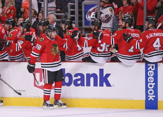 Kane Scores Twice as Blackhawks Knock Off Flyers