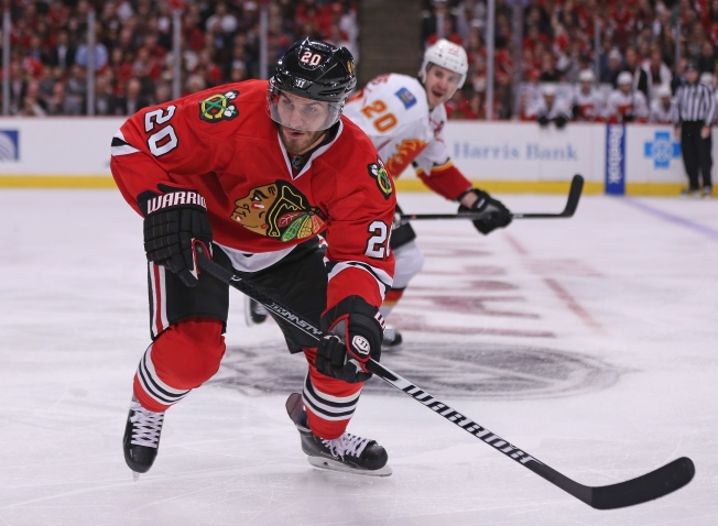 Saad's Third Period Tally Lifts Blackhawks Over Flames