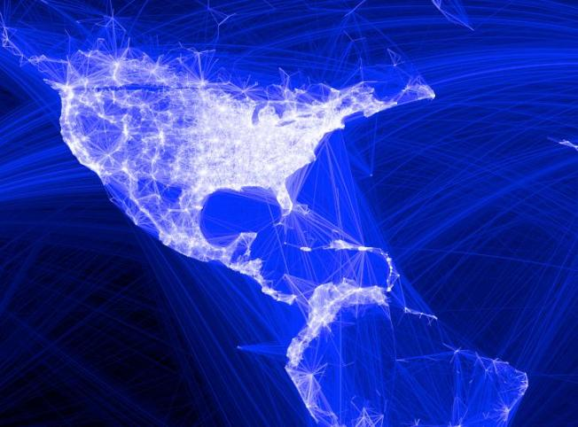 Facebook Map Reveals Web of Connections