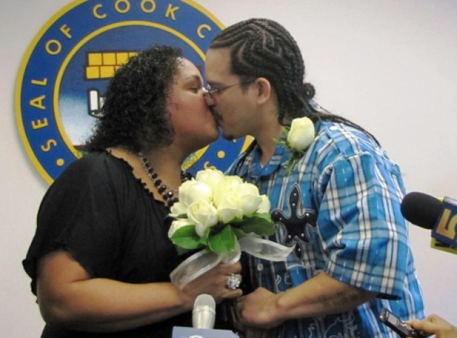 County Clerk Weds First Couple to Snag Marriage License