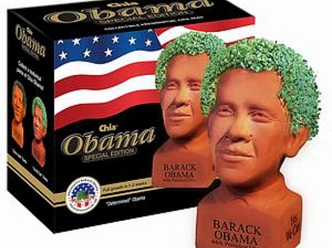 Obama Chia Head Grows on Locals