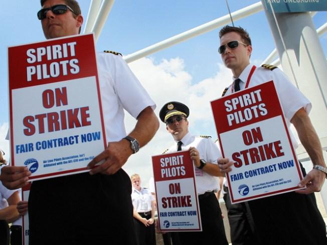 Spirit Airline Strike Strands O'Hare Travelers