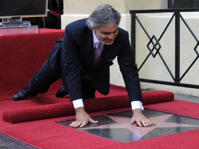 Italian Tenor Andrea Bocelli Receives Walk of Fame Star
