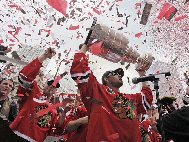 Tab for Hawks Rally, Parade = $200,000